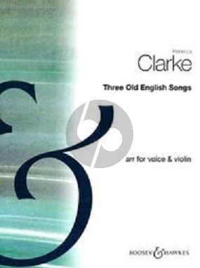 Clarke 3 Old English Songs Voice and Violin