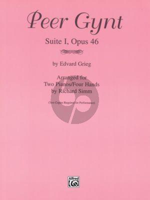 Peer Gynt Suite no.1 opus 46 2 piano's 4 hands