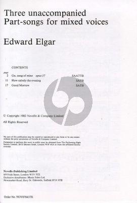Elgar 3 Unaccompanied Part-songs (SAATTB/SATB)