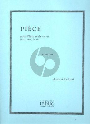 Echpai Piece pour Flute seule (en ut avec patte de si)