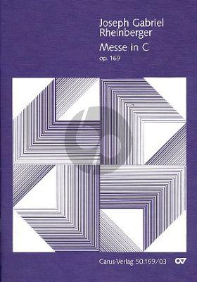 Rheinberger Messe C-dur Op.169 SATB soli-Chor-Orch. Klavierauszug