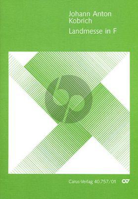 Kobrich Landmesse F-dur Bass Stimme-Orgel (mit Violine oder Viola ad lib.) (Partitur (lat.)