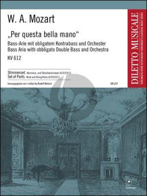Mozart Per Questa bella Mano KV 612 Bass/Bariton-Kontrabass und Orchester Partitur (Malaric)
