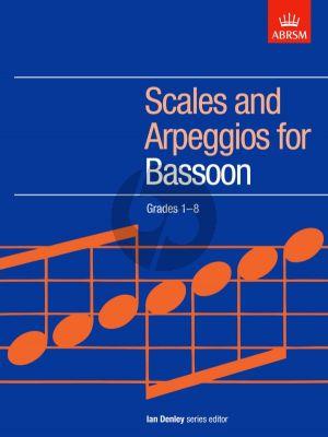 Denley Bassoon Scales & Arpeggios Grades 1-8