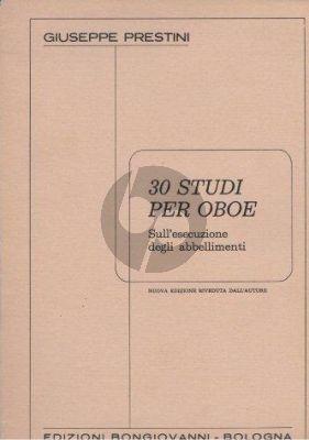 Prestini 30 Studi Sugli Abbellimenti per Oboe