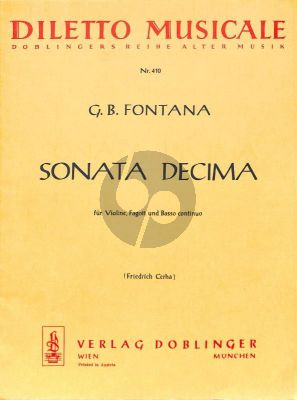 Sonate Decima Violin-Bassoon-Bc