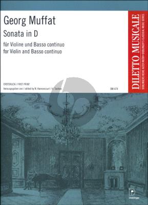 Sonate D dur (Erstdruck / First Edition)