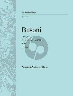 Busoni Konzert D-dur Op.35a (BWV 243) Violin-Piano