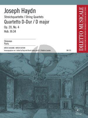 Streichquartett D-dur Opus 20 No. 4 Hob. III:34 Stimmen