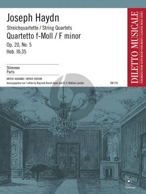 Streichquartett f-moll Opus 20 No. 5 Hob. III:35 Stimmen