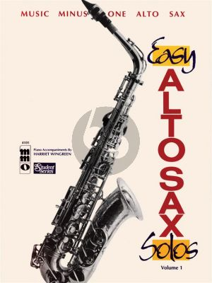 Easy Alto Sax Solos Beginning Level Vol.1 (MMO