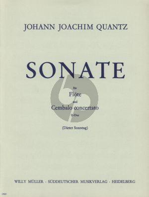 Quantz Sonate D dur Flote mit Konzertierendem Cembalo (Herausgegeben von Dieter Sonntag)