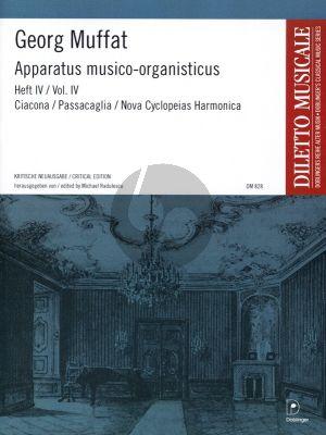 Muffat Apparatus Musico-Organisticus Vol.4 (Critical Edition by M. Radulescu)