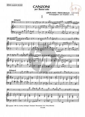 Canzoni per Basso Solo Vol.1 (Cerha) (Bass Stimme und Generalbass)