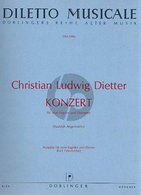 Dietter Konzert 2 Fagotte-Orchester (KA) (Angermuller)