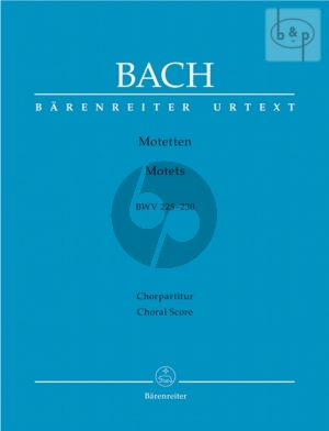 Motetten BWV 225 - 230 (Chorpartitur) (edited by Konrad Ameln)