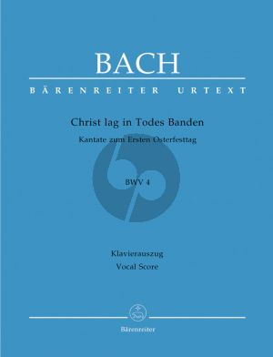 Bach J.S. Kantate BWV 4 Christ lag in Todes Banden Vocal Score (Christ lay by death enshrouded BWV 4) (German / English)