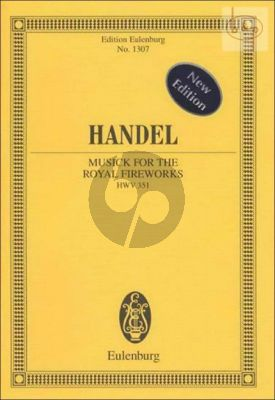 Music for the Royal Fireworks HWV 351 (Orch.) (Study Score)