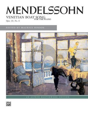 Mendelssohn Venetian Boat Song Op. 30 No. 6 Piano solo (Maurice Hinson)