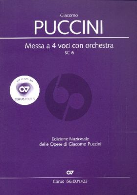 Puccini Messa a 4 Voici (Messa di Gloria) (Soli-Choir-Orch.) (Vocal Score) (lat.)
