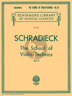 Schradieck School of Violin Technics Vol. 3