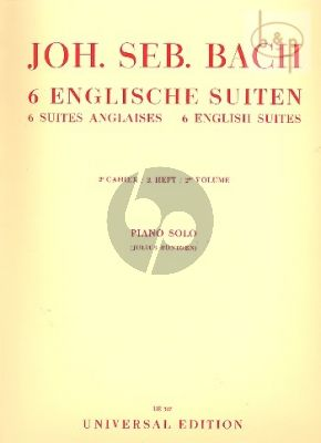 Englische Suiten Vol.2 (BWV 809 - 811)