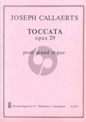 Callaerts Toccate e-moll Op. 29 Orgel