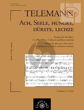 Ach, Seele, Hungre, Durste, Lechze (Alto[Bass] Voice- 2 Recorders[C][Vi.]-Bc)