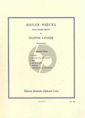 Litaize 12 Pieces Vol. 2 No. 7 - 12 pour Orgue