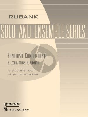 Lecail Fantaisie Concertante Clarinet (Eb) and Piano (Himie Voxman)