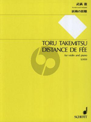 Takemitsu Distance de Fee (1951/1989) Violine-Klavier