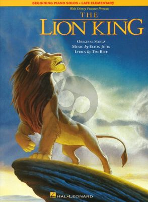 Rice J. Lion King (Disney Pictures) (Beginning Piano Solos-Late Elementary)