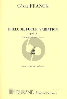 Franck Prelude-Fugue & Variation Op.18 Piano 4 mains (transcr. A. Decaux)