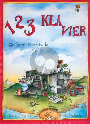 Ehrenpreis 123 Klavier Vol.2 (Klavierschule 2-8 Hände) (Wohlwender)