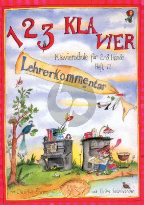 Ehrenpreis-Wohlwende 123 Klavier (Klavierschule für 2 - 8 Hände) Vol.2 (Lehrerkommentar)
