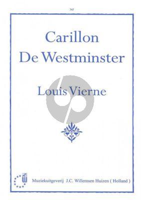 Vierne Carillon de Westminster Orgel
