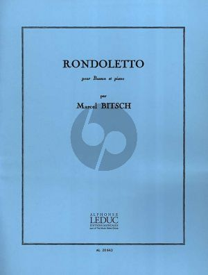 Bitsch Rondoletto Basson et Piano