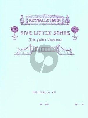 Hahn 5 Petites Chansons (Poemes de R.J.Stevenson)