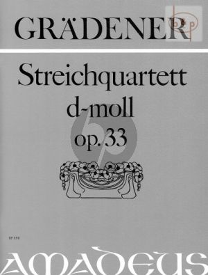 Quartett No.1 d-moll Op.33