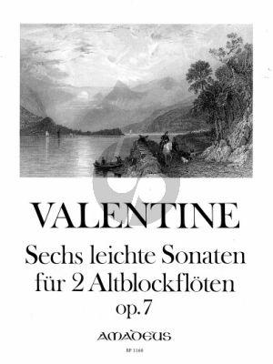 Valentine 6 leichte Sonaten Op.72 2 Altblfl. (Yvonne Morgan)