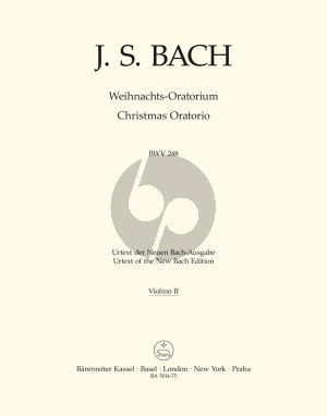 Weihnachts Oratorium BWV 248 Soli-Chor-Orch. Violine 2