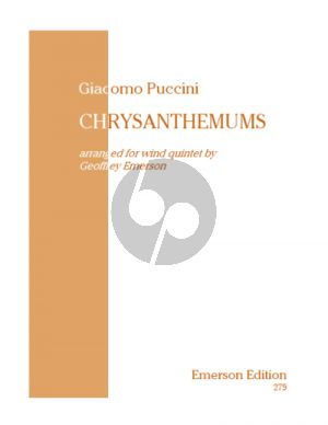 Puccini Chrysanthemums (Score/Parts) (transcr. by Geoffrey Emerson)