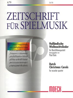 Hollandische Weihnachtslieder 4 Blfl. SATB (Paul Buis)