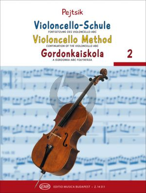 Pejtsik Violoncello Method Vol.2 (Continuation of the Violoncello ABC)