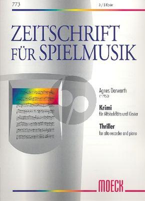 Dorwarth Krimi (Thriller) Altblockflöte-Klavier