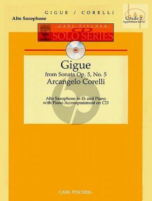 Gigue (from Sonata Op.5 No.5) (Bk-Cd)