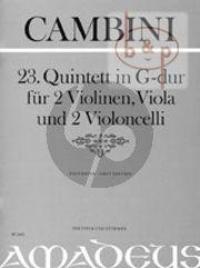 Quintet No.23 G-major (Score/Parts)