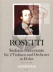 Sinfonia Concertante D-dur (2 Violinen und Orchester) (RWV C14)