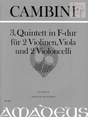 Quintet No.3 F-major (Score/Parts)