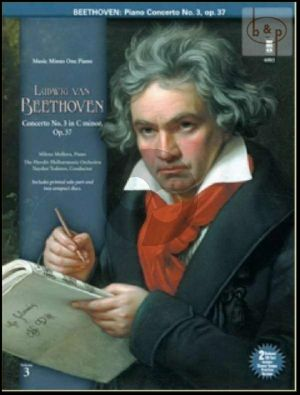 Beethoven Piano Concerto No.3 Op.37 c-minor (Bk- 2 Cd Set with Slower Tempo Practice Version) (MMO) (Pianist Milena Mollova)